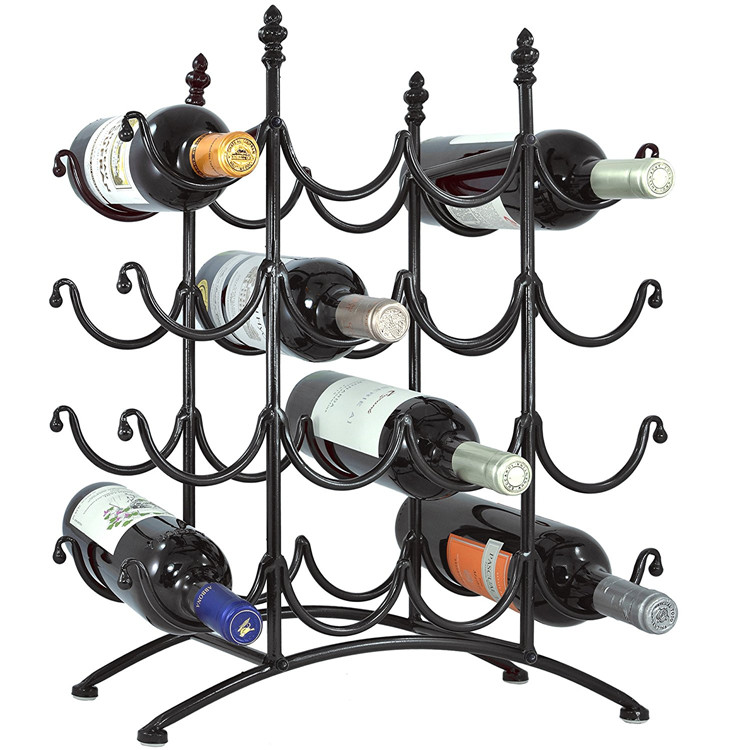 Wholesale New design metal wire glass wine holder for liquor