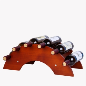 Arched Wood Wine Bottle Holders