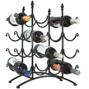 Metal wire glass wine holder