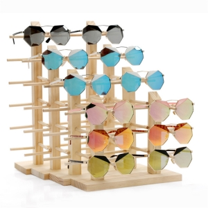 Wooden sunglass displayMST