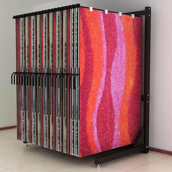 Wholesale Metal Rug Rack Carpet Sample Display Stand For