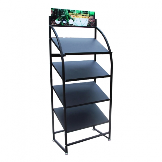 4 tier slanted metal shelf